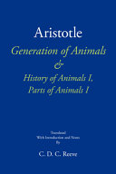 Aristotle Generation of Animals and History of Animals I, Parts of Animals I