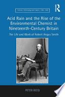 download ebook acid rain and the rise of the environmental chemist in nineteenth-century britain pdf epub