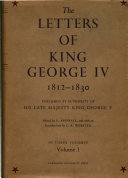 Book The Letters of King George IV, 1812-1830