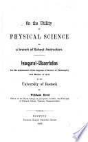 On the Utility of Physical Science as a Branch of School instruction