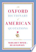 The Oxford Dictionary of American Quotations