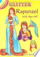 Glitter Rapunzel Sticker Paper Doll