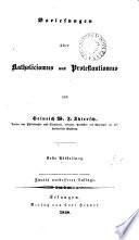 Vorlesungen über Katholicismus und Protestantismus