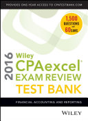 Wiley CPAexcel Exam Review 2016 Test Bank