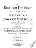 Finding List of Books and Periodicals in the Central Library     Book PDF