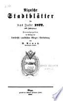 Rigasche Stadtblätter