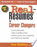 Real resumes for Career Changers