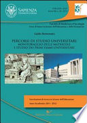 Percorsi di studio universitario  Monitoraggio delle matricole e studio dei primi esami universitari