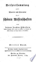 Beispielsammlung zur Theorie und Literatur der Sch  nen Wissenschaften  Bd  Lehrgedichte  Beschreibende Gedichte  Poetische Briefe