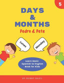 Days Months Learn Basic Spanish To English Book For Kids