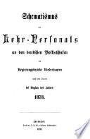 Schematismus des Lehr-Personals an den deutschen Volksschulen im Regierungsbezirke Niederbayern