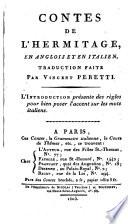 Contes de l Hermitage   Tales of the Hermitage    By Mrs  Mary Pilkington   En anglois et en italien  Traduction faite par Vincent Peretti  etc