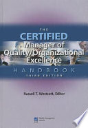 The Certified Manager of Quality organizational Excellence Handbook