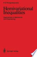 Hemivariational Inequalities