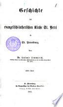 Geschichte der evangelisch-lutherischen Gemeinde der St. Petri in St. Petersburg