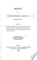 Memoirs of Captain George Carleton  an English officer