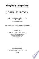 Areopagitica   24 November  1644