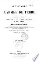 Dictionnaire de l arm  e de terre