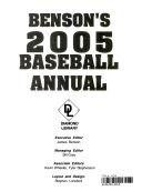 Benson Baseball Annual 2005