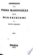 Addizioni di Piero Maronelli alle Mie prigioni di Silvio Pellico