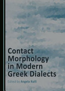 Contact Morphology In Modern Greek Dialects book