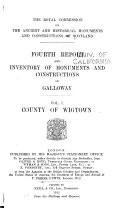 Fourth Report and Inventory of Monuments and Constructions in Galloway