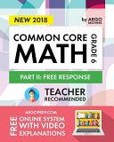 Argo Brothers Math Workbook Grade 6
