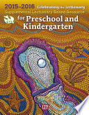 Celebrating the Lectionary   for Preschool and Kindergarten 2015 2016