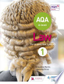 AQA A level Law for Year 1 AS