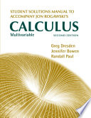 Student s Solutions Manual for Multivariable Calculus