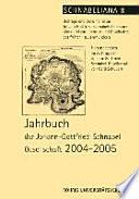 Jahrbuch der Johann Gottfried Schnabel Gesellschaft
