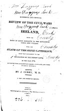 download ebook an historical and critical review of the civil wars in ireland, from the reign of queen elizabeth to the settlement under ki ng william. with the state of the irish catholics from that settlement to 1778 pdf epub