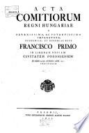 Acta comitiorum regni Hungariae