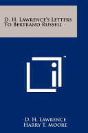 D  H  Lawrence s Letters to Bertrand Russell