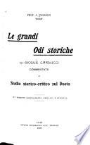 Le grandi Odi storiche di Giosue Carducci