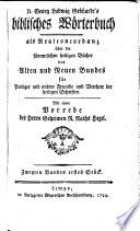Biblisches W  rterbuch