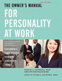 The Owner S Manual For Personality At Work