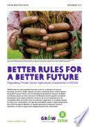 Better Rules For A Better Future Regulating Private Sector Agriculture