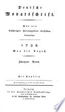 Deutsche Monatsschrift (hrsg. von Gottlobnathan Fischer und Friedrich Gentz). Mit Kupfern