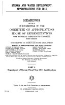 Energy And Water Development Appropriations For 2014 2014 Congressional Budget Justification Federal Energy Regulatory Commission Defense Nuclear Facilities Safety Board US Nuclear Regulatory Commission Appalachian Regional Commission Delta Regional Autho