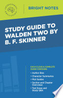 Study Guide To Walden Two By B F Skinner