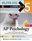 5 Steps to a 5 AP Psychology 2018 Elite Student edition