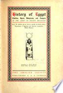 History of Egypt  Chaldea  Syria  Babylonia  and Assyria