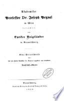 Akademiker Professor Dr. Joseph Petzval in Wien beleuchtet von Optiker Voigtländer