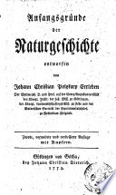 Anfangsgründe der Naturgeschichte entworfen von Johann Christian Polynkarp Erxleben ..