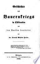 Geschichte des Bauernkriegs in Ostfranken