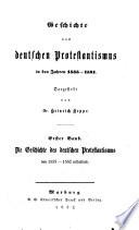 Geschichte des deutschen Protestantismus