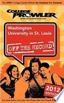 Washington University in St  Louis 2012