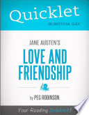 Quicklet on Jane Austen s Love and Friendship  CliffNotes like Summary
