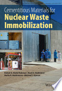 Cementitious Materials for Nuclear Waste Immobilization